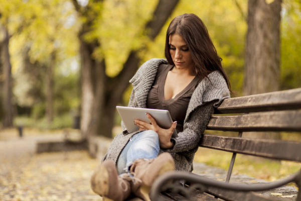 Woman with Tablet image